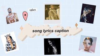 20 SONG LYRICS INSTAGRAM  CAPTION IDEAS 💡  Facebook part1