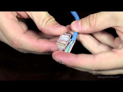 How To Make RJ45 Network Patch Cables – Cat 5E and Cat 6