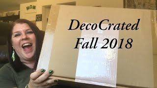 *NEW*// DECO-CRATED// FALL 2018// HOME DECOR SUBSCRIPTION BOX//💵PLUS COUPON CODE 💵💵