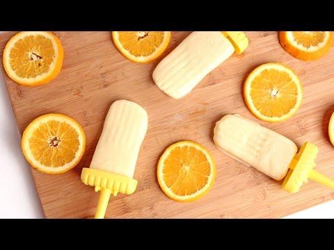 Homemade Creamy Orange Popsicle Recipe – Laura Vitale – Laura in the Kitchen Episode 924