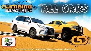 All SUVs Climbing Sand Dune CSD Engine Revving & Drag Race Test