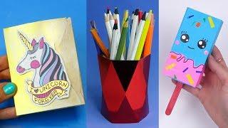 14 DIY School Supplies | Easy DIY Paper crafts ideas