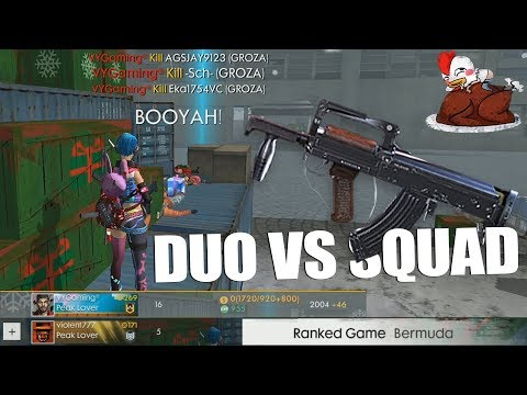 TOTAL 21KILL!!! DUO VS SQUAD RANKED MATCH PAKAI GROZA RATAIN 1 SQUAD SENDIRIAN - FREE FIRE INDONESIA
