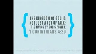 Talk or Power?  1 Corinthians 4:20