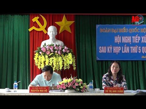 Đoàn Đại biểu Quốc hội tỉnh tiếp xúc cử tri TP. Long Xuyên sau kỳ họp thứ 5