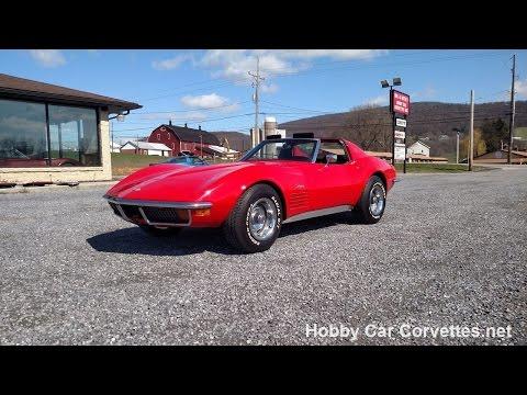 1971 Red Corvette Stingray Automatic For Sale Video