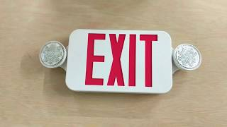 ELCCOMBOJR2   LED Exit Light (Exit Sign + Emergency Light Combo)