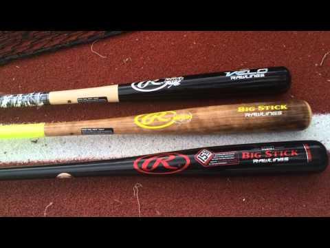 UP Close: Rawlings Wood Bat Comparisons: Big Stick, Maple, Velo