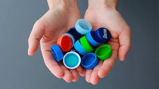 What can be made out of plastic bottle lids