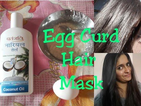 Hair Mask of coffee at honey at itlog para sa
