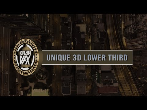 Creating Fantastic Unique 3D Lower Third | Adobe After Effects Tutorial