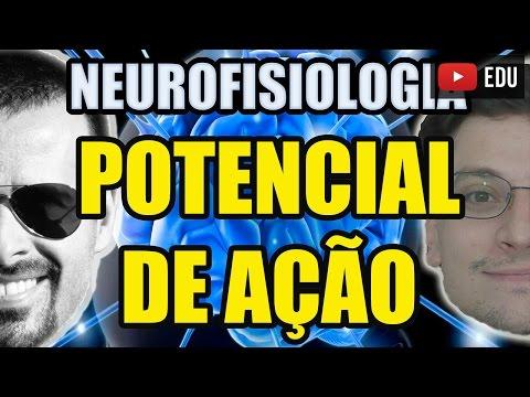 Potencial de Ação (despolarização) e de Membrana - Neurofisiologia/Biologia Celular - VideoAula 130
