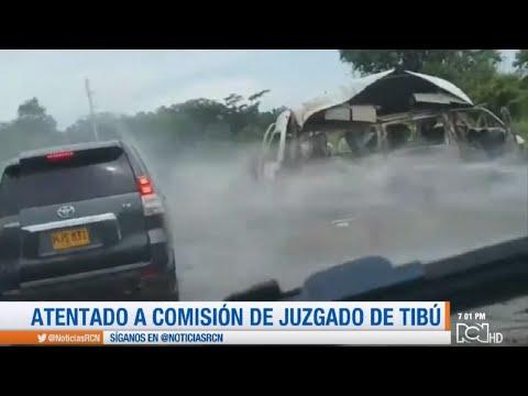 Dos muertos deja ataque contra comision judicial en Tibu, Norte de Santander