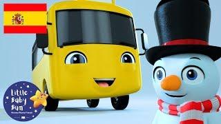 NUEVA CANCIÓN | con Buster el Autobús | Buster Hace un Muñeco de Nieve | Little Baby Bum en Español