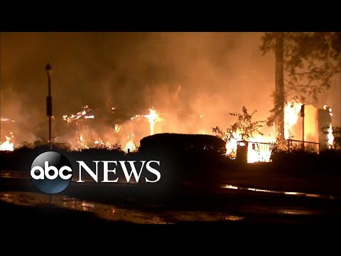 Evacuations underway as wildfires tear through southern California