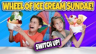 MYSTERY WHEEL OF ICE CREAM SUNDAE CHALLENGE!!! Switch Up W Broccoli!!