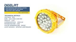 Maintenance Free Energy Saving Explosion Proof LED Lamps - 50W 240 x 295 x 295 mm