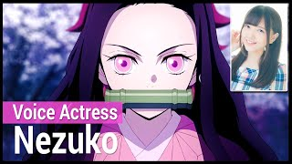 The Voice Actress of Nezuko and and her characters
