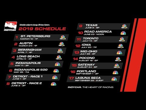 Here's the 2019 INDYCAR TV schedule