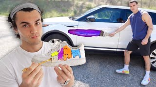 We been bored ngl. So we decided to DIY customize our belongings... including our car :/  SUBSCRIBE -  https://www.youtube.com/user/TheDolan...  Check out our podcast :) New Podcasts Every Tuesday - https://podcasts.apple.com/us/podcast... https://open.spotify.com/episode/5AcG...  Merch (Going away soon :')) - https://dolantwins.com  Check out our company Wakeheart! - https://wakeheart.com  Ethan's Stuff  INSTAGRAM - https://instagram.com/ethandolan/ TWITTER - https://twitter.com/EthanDolan SNAPCHAT - EthanDolan  Grayson's Things  INSTAGRAM - https://instagram.com/graysondolan/ TWITTER - https://twitter.com/GraysonDolan SNAPCHAT - GraysonDolan