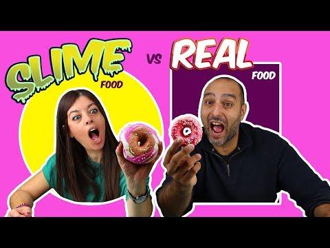 🍩REAL FOOD VS SLIME FOOD CHALLENGE!! 🍪RETO SLIME VS COMIDA REAL!! MOMENTOS DIVERTIDOS
