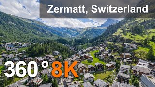 Zermatt Matterhorn Switzerland Teaser Aerial 360 video in 8K Virtual travel