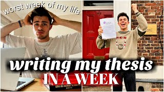 I WROTE MY FINAL YEAR DISSERTATION IN A WEEK... and it was stressful