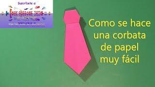 como se hace una corbata de papel muy facil por easy origami total