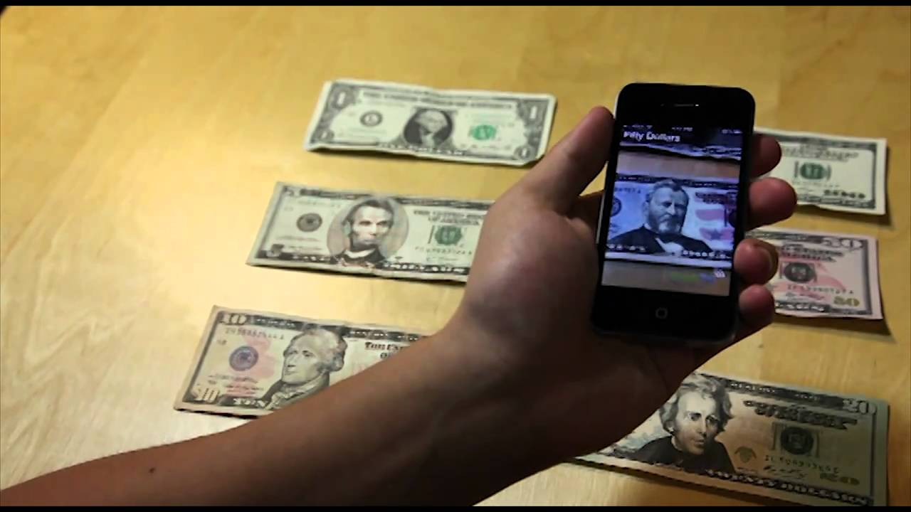 An iPhone App That Identifies Currency For Blind People