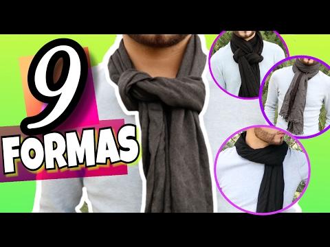 COMO USAR UNA BUFANDA ? - Amarrar bufandas de diferentes maneras / MODA MASCULINA