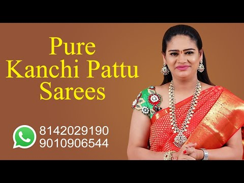 """<p style=""""color: red"""">Video : </p>Beautiful Pure Kanchi Pattu Sarees 