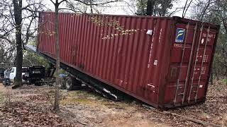 How To Bury Shipping Container For Underground Storm Shelter Part 4 Shop Storage Cellar Tornado
