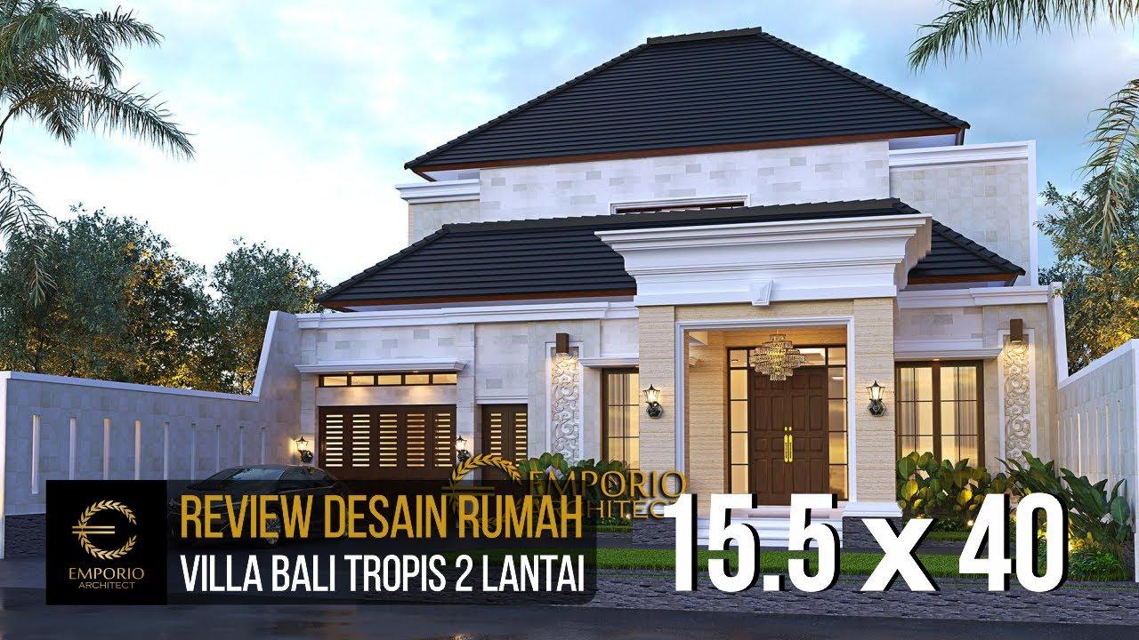 Video 3D Desain Rumah Villa Bali 2 Lantai Bapak Harun - Binjai, Sumatera Utara