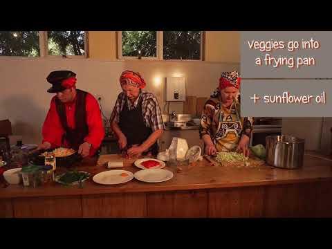Russian Cuisine. Vegetarian Borscht. Ruskiwi.
