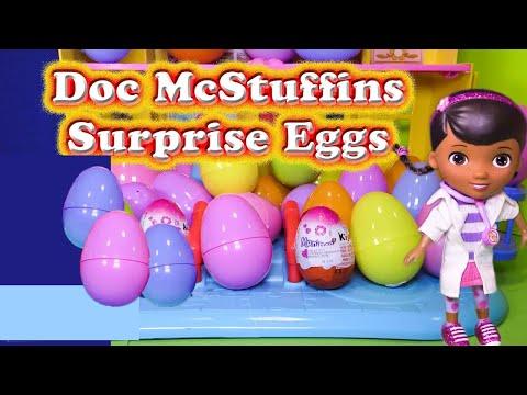 DOC MCSTUFFINS Disney Surprise Eggs Disney Doc McStuffins Surprise Video