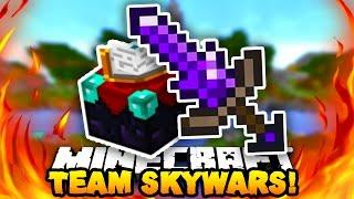 "Minecraft TEAM SKY WARS ""SHARPNESS 4 SWORD!"" #4 w/PrestonPlayz & Pete"