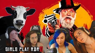 Girls Play Red Dead Redemption 2 -  RDR2 Funny Moments - RDR2 Best Horse Moments