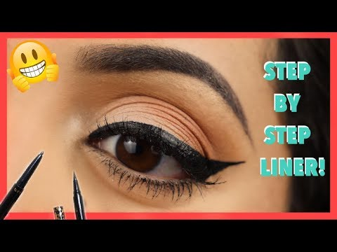 HOW TO DO WINGED EYELINER FOR ROUND EYES AND BEGINNERS ! | 5 Easy Steps! |Paola Franco