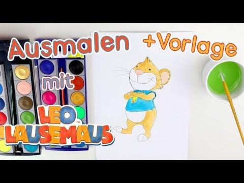 Ausmalen mit Leo Lausemaus - Leo Lausmaus 🖌😀👍
