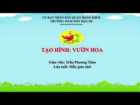 Cô giáo Trần Phương Thảo - Trường mầm non Họa Mi hướng dẫn bé hoạt động tạo hình: In vườn hoa