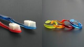 DIY Crafts - How To Make Toothbrush Bracelets