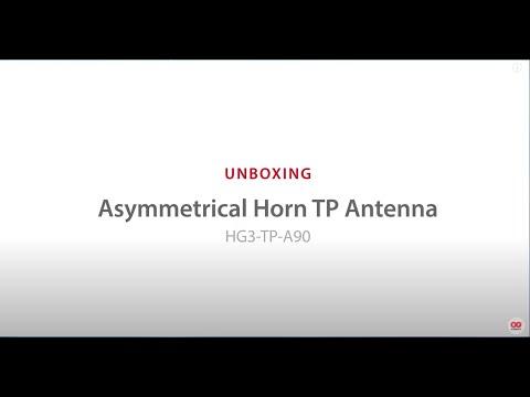 Unboxing Asymmetrical Horn Antenna HG3-TP-A90