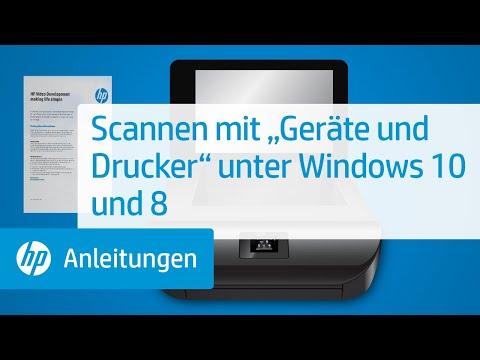 """Scannen mit """"Geräte und Drucker"""" unter Windows 10 und 8"""