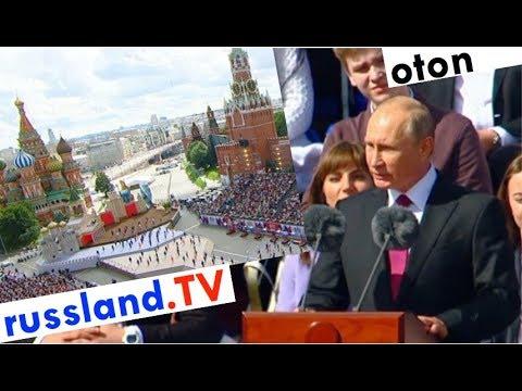 Putin über Moskau auf deutsch [Video]