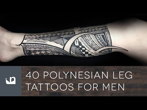 40 Polynesian Leg Tattoos For Men Mp3