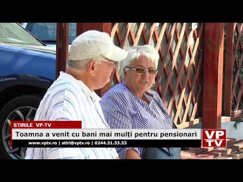 Toamna a venit cu bani mai mulți pentru pensionari