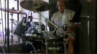 Kirk playing drums to Ladykiller by Maroon 5
