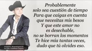 Probablemente - Christian Nodal [Letra] [Lyrics Video]