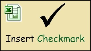 How to type checkmark symbol in Excel