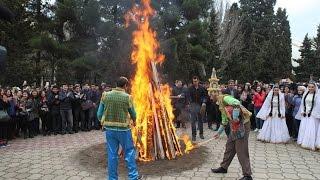 Азербайджан Баку,празднуют Новруз Байрам - Bayramınız mübarək Azerbaijan 2017